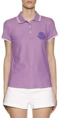 Moncler Large Logo Patch Polo Shirt