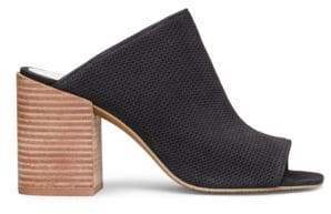 Kenneth Cole New York Karolina 3 Leather Block Heel Mules