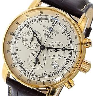 Zeppelin 100th anniversaryMemorial Model Quartz Men's Chronograph Watch 7680-5 Silver