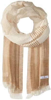 Love Quotes Linen Cotton Variable Stripe Scarves