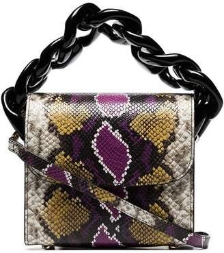 Marques Almeida Marques'Almeida multicoloured snake effect chain leather bag
