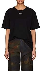 "Off-White Byredo x Women's Unisex ""Down""-Print Cotton T-Shirt-Black"