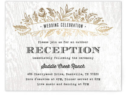 Woodland Romance Foil-Pressed Reception Cards