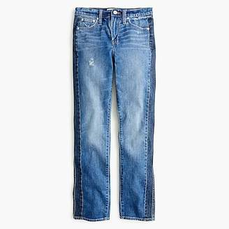 J.Crew Petite vintage straight jean in two-tone denim