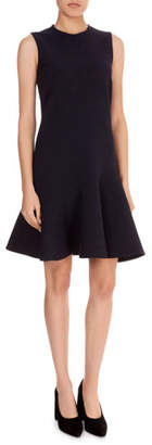 Victoria Beckham Victoria Sleeveless Fit-and-Flare Crepe Dress