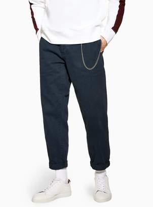 Topman Navy Twill Original Trousers