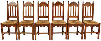 One Kings Lane Vintage Dutch Rush Seat Chairs - Set of 6 - Blink Home Vintique