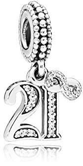 Pandora Women Silver Bead Charm - 797263CZ RGYjh
