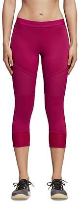 adidas by Stella McCartney Performance Essentials Mesh-Inset Cropped Leggings