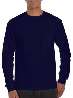 Gildan Big Mens Classic Long Sleeve Pocket T-Shirt, 2XL