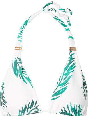 Vix Aloe Bia Printed Triangle Bikini Top - Green