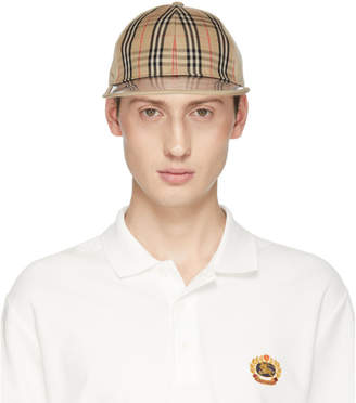 Burberry Tan PVC Brim Check Cap