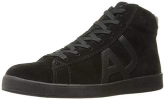 Armani Jeans Men's Suede High Top Sneaker Fashion