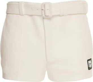 Prada Belted Jersey Logo Shorts