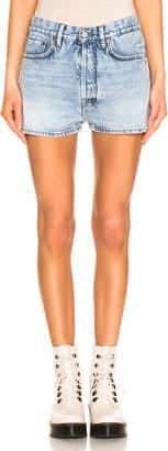 Acne Studios Trash Denim Shorts in Light Blue | FWRD