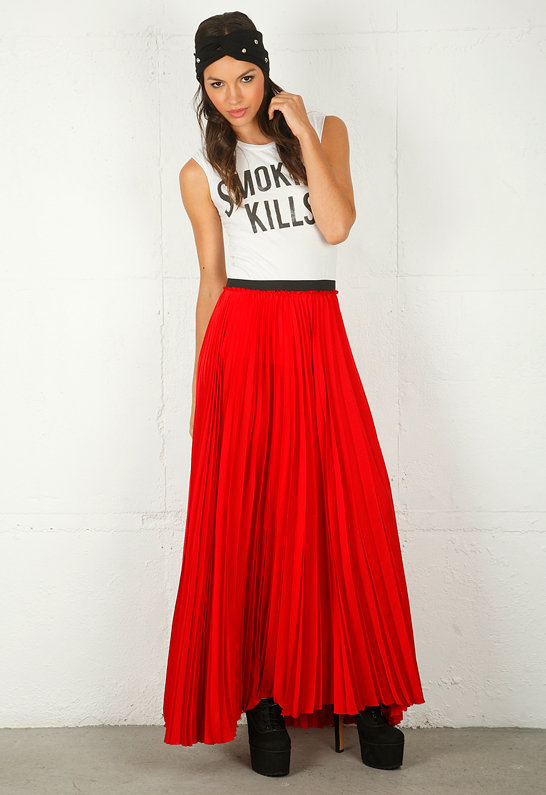 Pleated Maxi Skirt - by Enza Costa