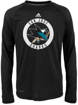 adidas San Jose Sharks Practice Graphic Long Sleeve T-Shirt, Big Boys (8-20)