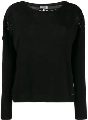Liu Jo lace detail jumper