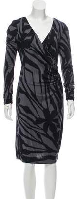 Tory Burch Silk Abtract Print Dress