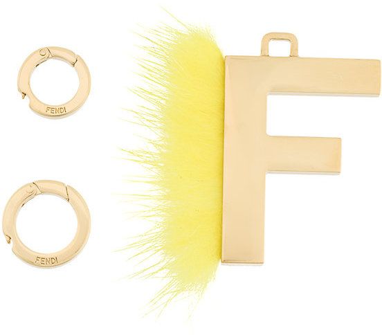FendiFendi fluffy trim initial necklace