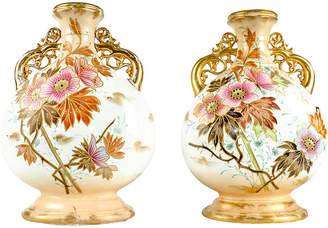 One Kings Lane Vintage Antique German Porcelain Vases - Set of 2 - La Maison Supreme