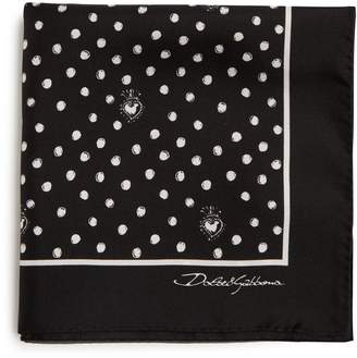 Dolce & Gabbana Polka-dot silk pocket square
