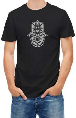 Religion Tshirt Hamsa hand of Fatima against evil Black XL