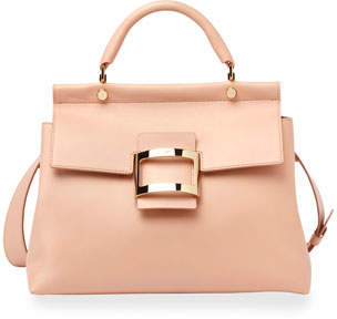 Roger Vivier Viv Cabas Medium Top-Handle Satchel Bag, Nude