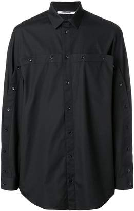 Chalayan oversized multi-buttoned shirt