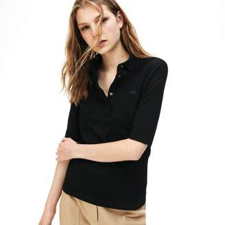 Lacoste Women's Slim Fit Stretch Mini Pique Polo Shirt
