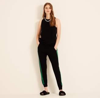Amanda Wakeley Black & Emerald Aldridge Cashmere Joggers