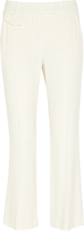Alexander McQueen Cropped crepe bootcut pants