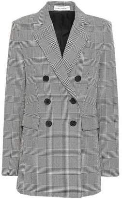 Robert Rodriguez Double-breasted Prince Of Wales Checked Crepe Blazer