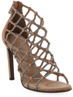 Brunello Cucinelli Monili Webbed Sandals