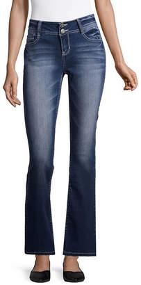 WALLFLOWER Wallflower Curvy Fit Bootcut Jeans-Juniors