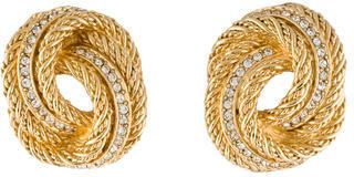 Christian Dior Christian Dior Crystal Knot Clip-On Earrings