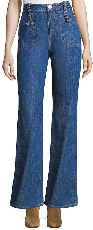 See by Chloé Women's Braided Wide-Leg Jeans