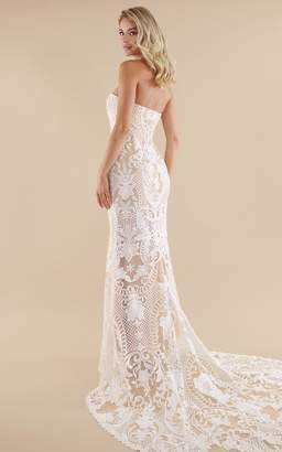 Showpo Lets Get Married Gown In white lace - 4 (XXS) Bridal Gowns