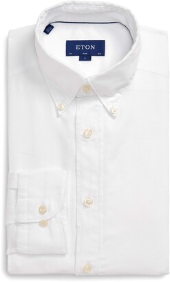Eton Soft Collection Slim Fit Solid Dress Shirt