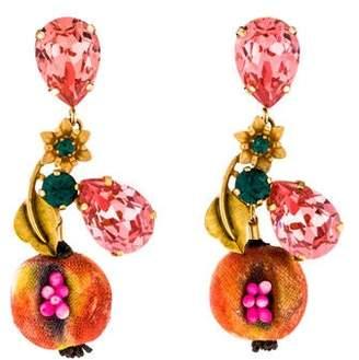 Dolce & Gabbana Crystal Pomegranate Fruit Drop Earrings