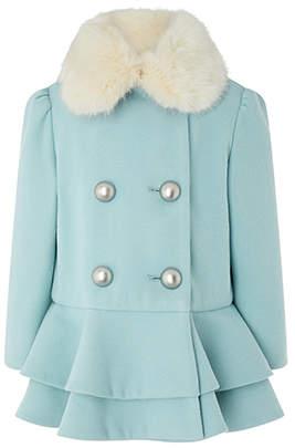Monsoon Baby Blossom Blue Coat