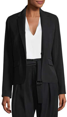 Vince Single-Breasted Crepe Blazer