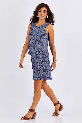 Hatley NEW Womens Knee Length Dresses Roberta Dress IndigoSea