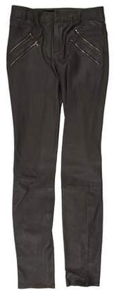 J Brand Leather Skinny-Leg Pants