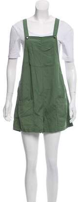 Elizabeth and James High-Rise Silk Overalls
