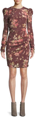 Zimmermann Unbridled Draped Floral-Print Mini Dress