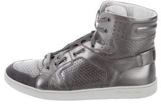 Christian Dior Metallic High-Top Sneakers
