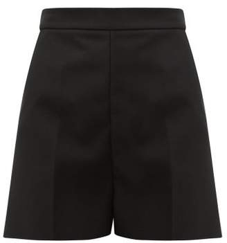 MSGM High Rise Tailored Crepe Shorts - Womens - Black