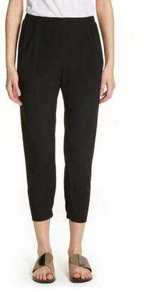 Zero Maria Cornejo Gabi Drape Silk Blend Pants