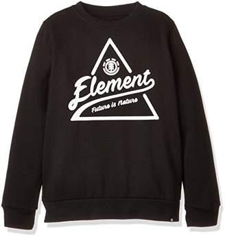 Element (エレメント) - (エレメント) ELEMENT [ キッズ ] 裏起毛 クルーネック スウェット (定番 ロゴプリント) 【 AH026-006 / ASCENT CREW BOY 】 トレーナー 子供服 かわいい AH026-006 FBK FBK 160